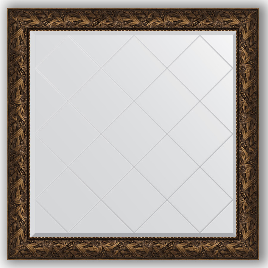 Зеркало 109х109 см византия бронза Evoform Exclusive-G BY 4459