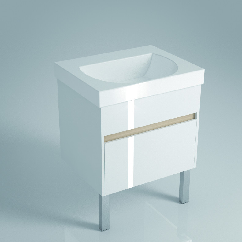 Тумба белый глянец 57,5 см Kerama Marazzi Buongiorno BG.60.2WHT стоимость