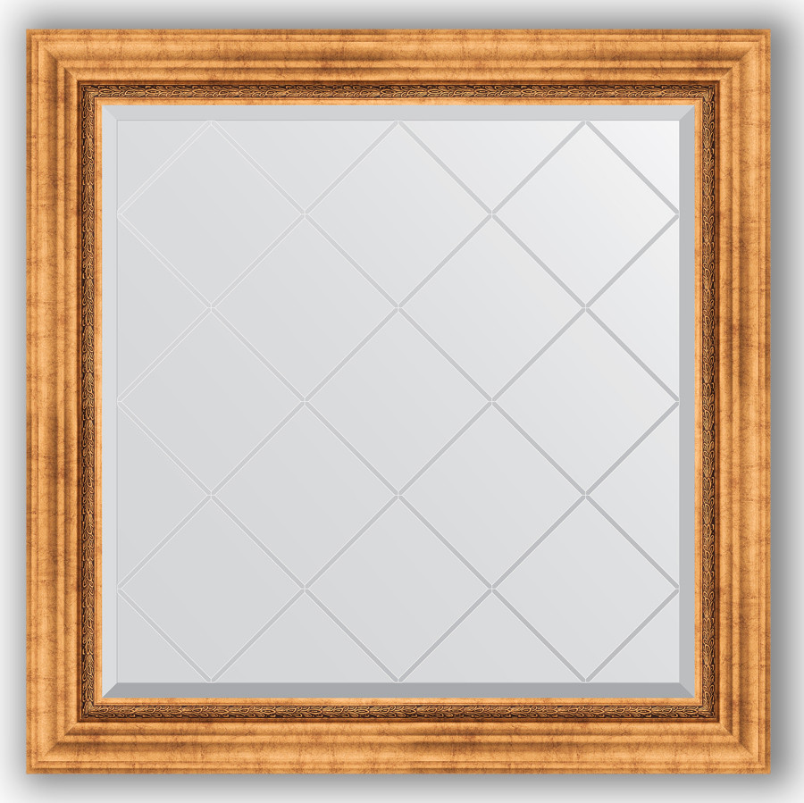цена Зеркало 86х86 см римское золото Evoform Exclusive-G BY 4318