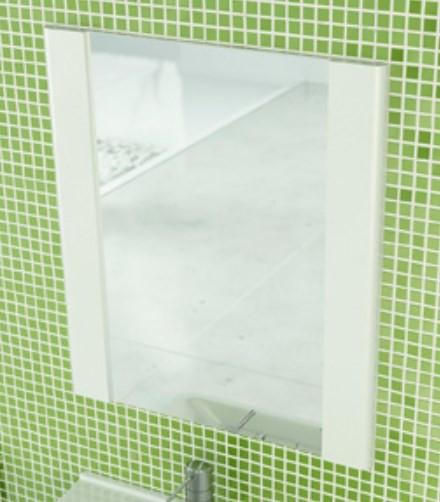 Зеркало 60х70 см белый глянец Comforty Флоренция 00003127385 цена