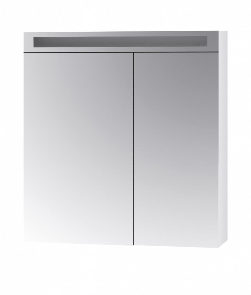 Зеркальный шкаф Dreja Max 80 с Led освещением, 2д, (50/30) белый 69233