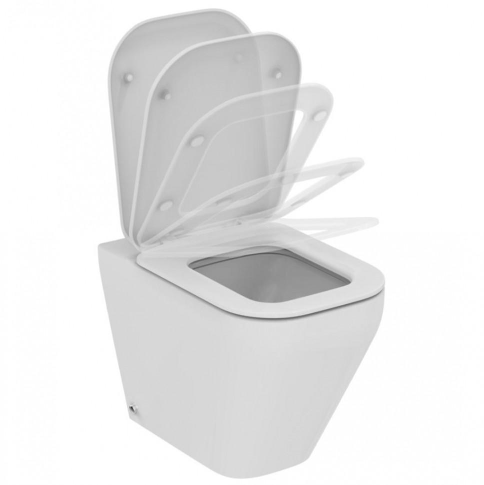Унитаз приставной с сиденьем микролифт Ideal Standard Tonic II AquaBlade K317301 приставной унитаз ideal standard tempo t331401