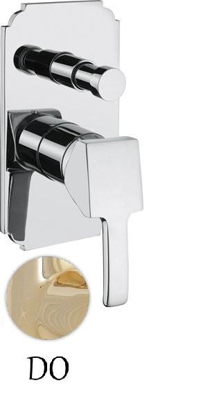 Встраиваемый однорычажный смеситель для ванны золото 24 карата Cezares Legend LEGEND-VDIM-03/24