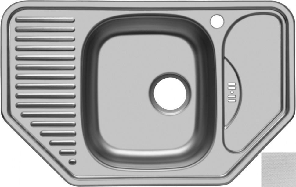 Кухонная мойка декоративная сталь Ukinox Комфорт COL777.488 -GW8K 2C