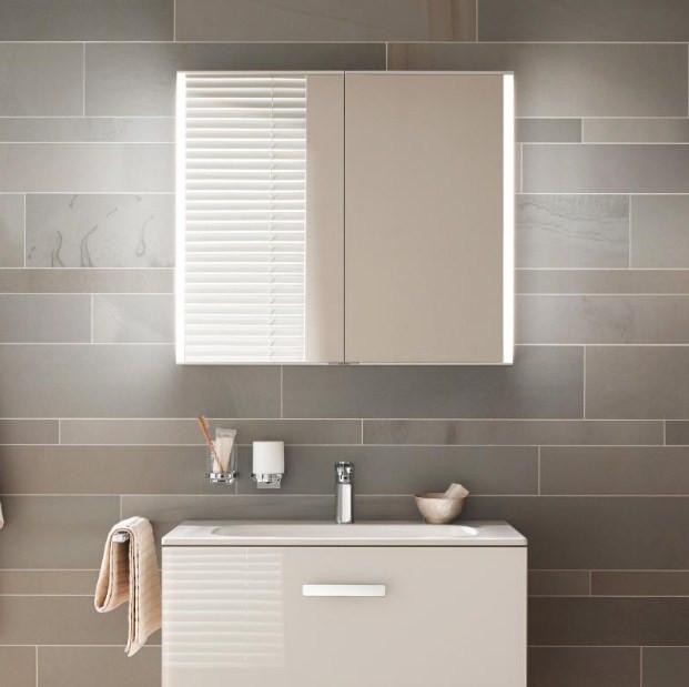 Зеркальный шкаф со светодиодной подсветкой 100х70 см KEUCO Royal Match 12803171301