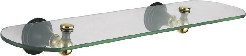 Полка стеклянная 52 см Fixsen Luksor FX-71603B фото