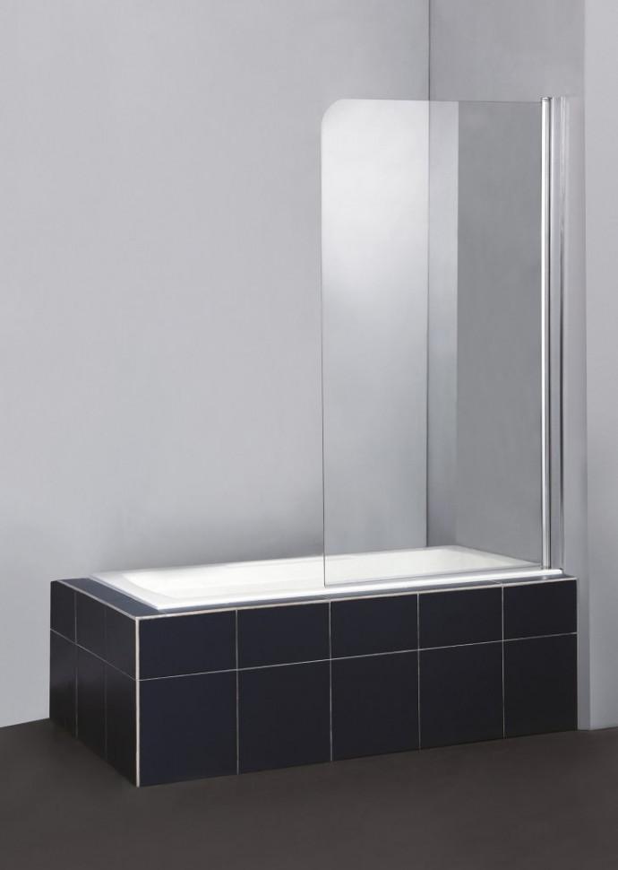 все цены на Шторка для ванны BelBagno Sela 80 см текстурное стекло SELA-V-1-80/140-Ch-Cr-R онлайн