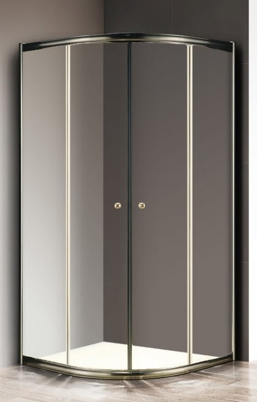 Душевой уголок 80х80 см Cezares GIUBILEO-R-2-80-SCORREVOLE-C-Br прозрачное