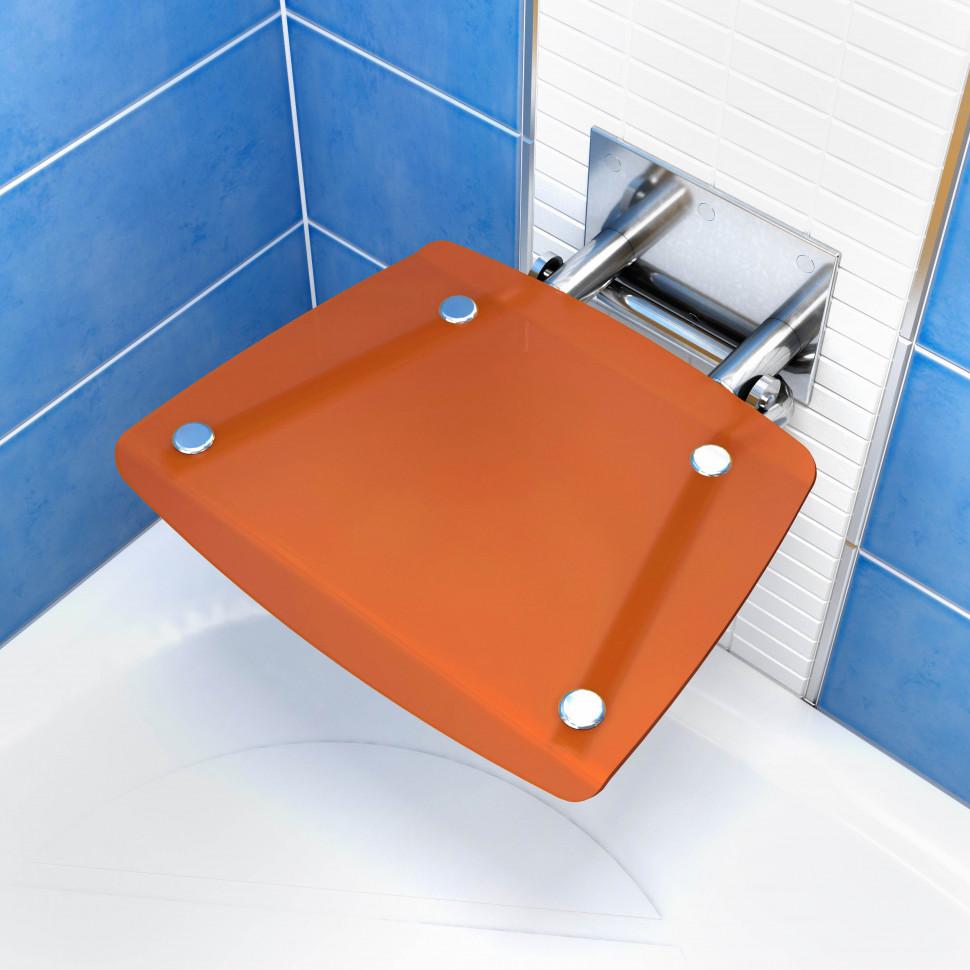 Cиденье для душа Ravak Ovo B полупрозрачное оранжевое B8F0000017