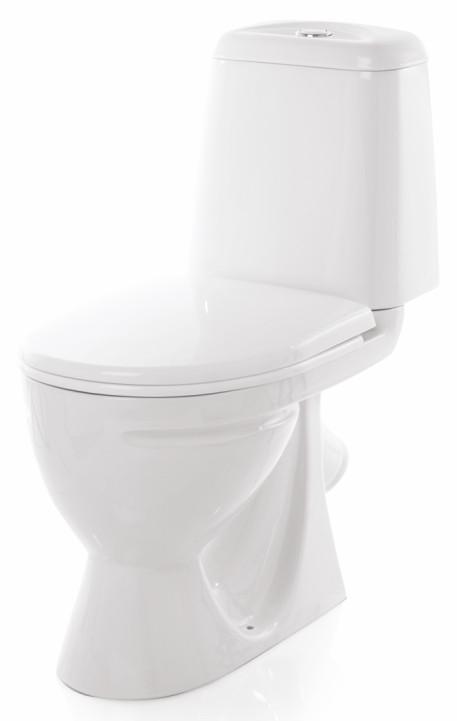 Унитаз-компакт косой выпуск с сиденьем дюропласт с микролифтом Sanita Идеал комфорт S900802 унитаз компакт напольный sanita виктория комфорт