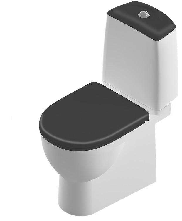 Унитаз-компакт с сиденьем микролифт Sanita Luxe Best Color Motion SL900305 унитаз компакт с сиденьем дюропласт sanita luxe art sl900202