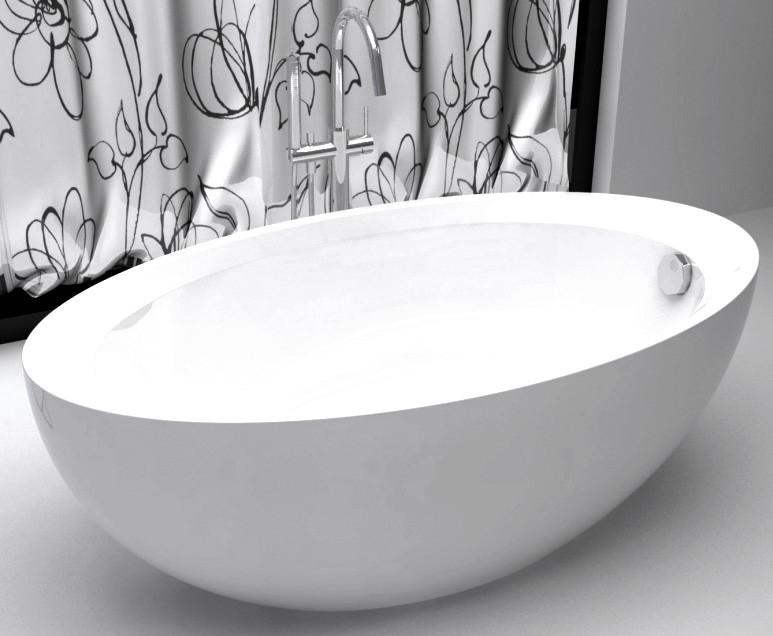 Акриловая ванна 160х85 см Abber AB9217