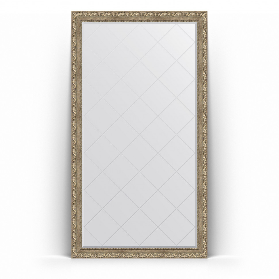 Зеркало напольное 110х200 см виньетка античное серебро Evoform Exclusive-G Floor BY 6353 зеркало evoform exclusive g 72х55 виньетка античное серебро