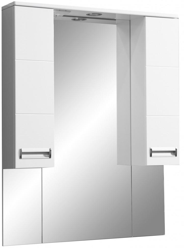 Зеркальный шкаф 80х70 см белый глянец/белый матовый Stella Polar Фиора SP-00000210 stella cameron sihtmärk