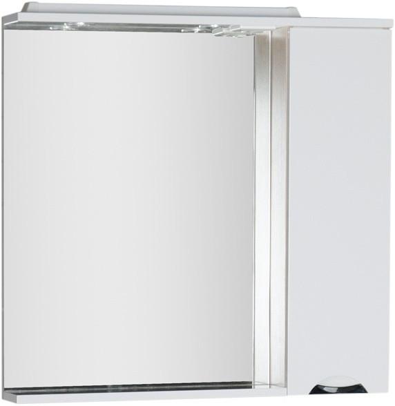 Зеркальный шкаф 88,6х87 см с подсветкой белый/светлый дуб Aquanet Гретта 00173987 цена в Москве и Питере