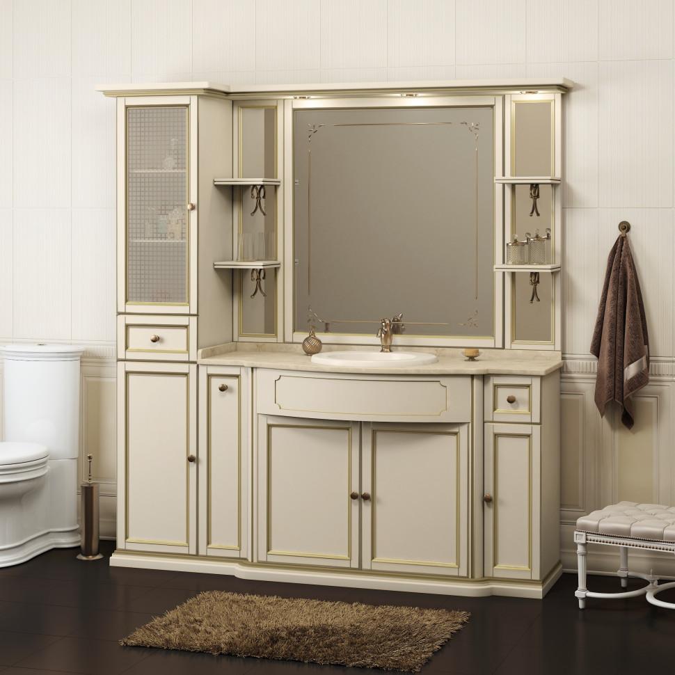 Комплект мебели слоновая кость бежевая патина 174 см Opadiris Корсо Оро KORSOORO6P1013