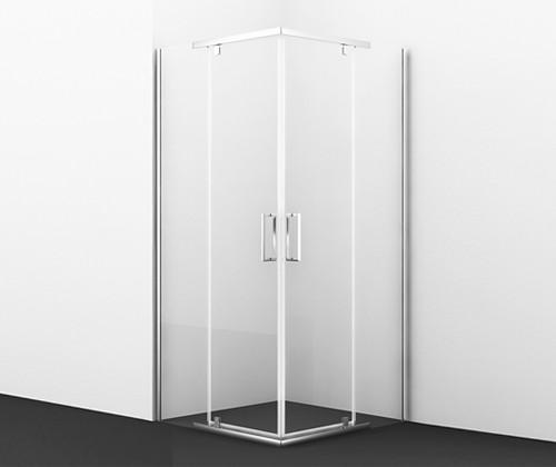 Душевой уголок 90х90 см прозрачное стекло WasserKRAFT LEINE 35P03 фото