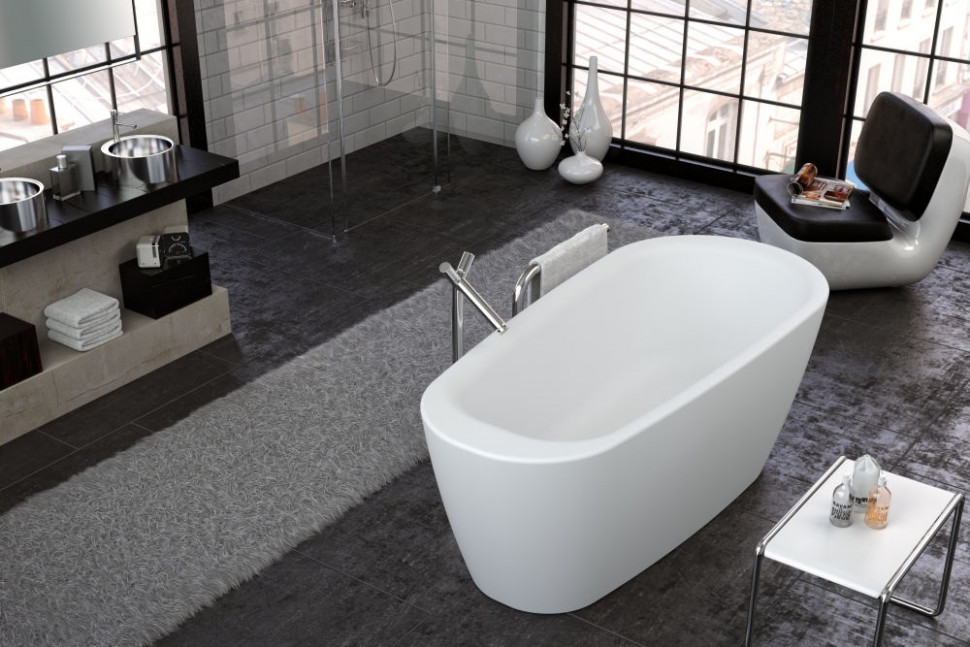 Акриловая аэромассажная ванна 180х80 см Kolpa San Adonis FS White Air