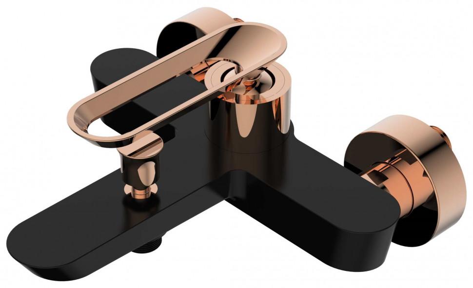 Фото - Смеситель для ванны черный/розовое золото Bien Hermes BB01009406 смеситель для кухни bien hermes be11009408 хром розовое золото