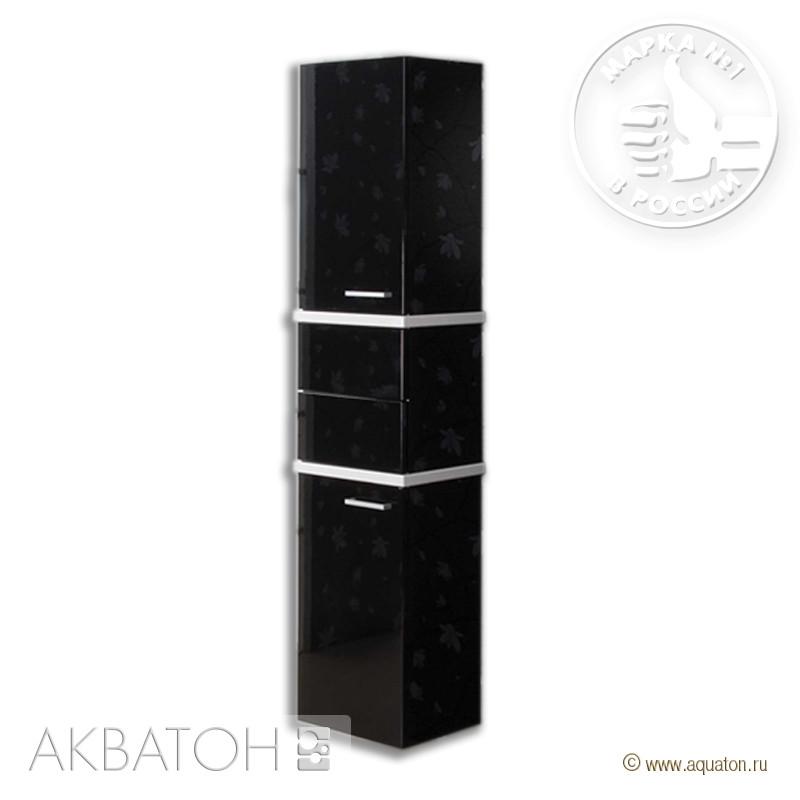 Колонна Турин черный глянец с белыми панелями Акватон 1A118003TU950 цена в Москве и Питере