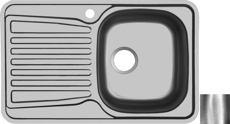 Кухонная мойка полированная сталь Ukinox Комфорт COP780.480 -GT6K 1R ukinox grp 693 503 15gt8p 1r