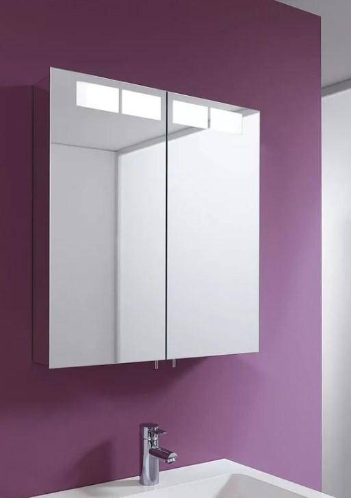 Зеркальный шкаф с люминесцентной подсветкой 66,5х70 см KEUCO Royal T1 12602171301 зеркальный шкаф vigo kolombo 80 с подсветкой серый