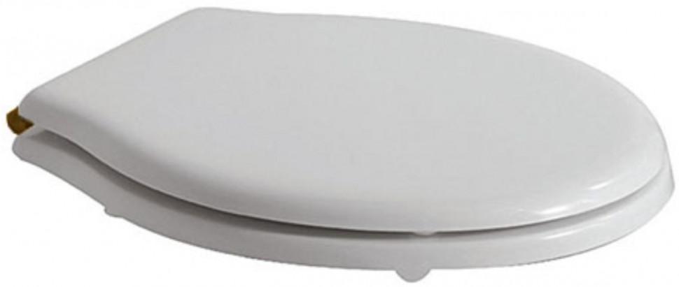Сиденье для унитаза с микролифтом белый/бронза Globo Paestum PA029BRbi/br
