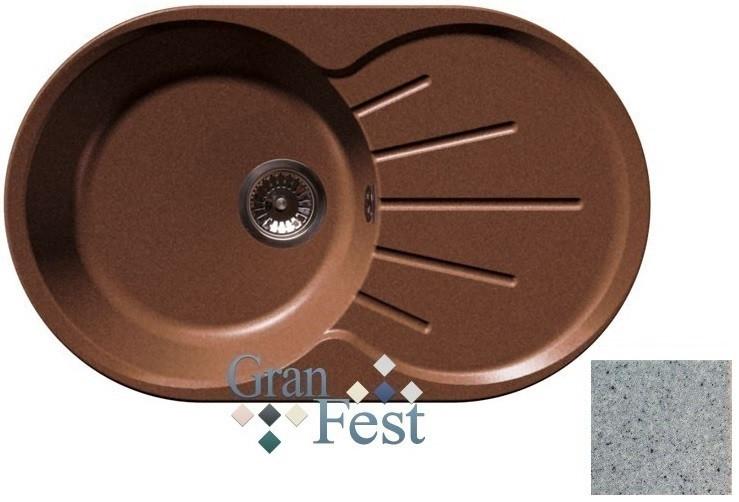 Кухонная мойка серый GranFest Rondo GF-R750L кухонная мойка черный granfest rondo gf r750l
