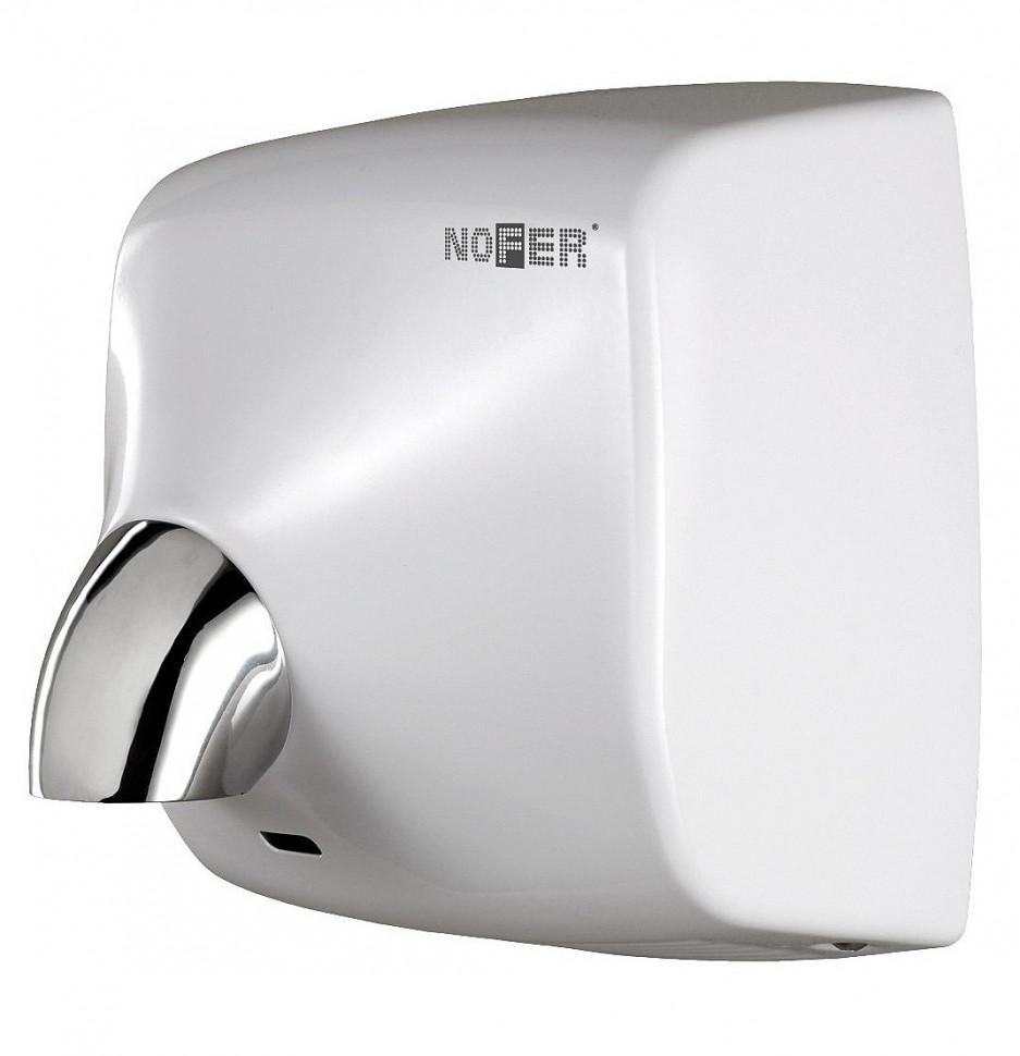 Сушилка для рук белый Nofer Windflow 01151.W автоматическая сушилка для рук nofer kai 1500 w глянцевая 01251 b
