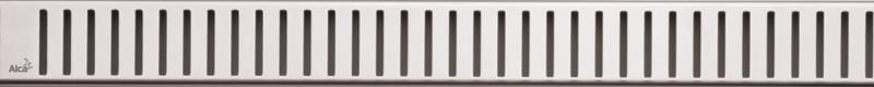 Декоративная решетка 844 мм AlcaPlast Pure нержавеющая сталь PURE-850M