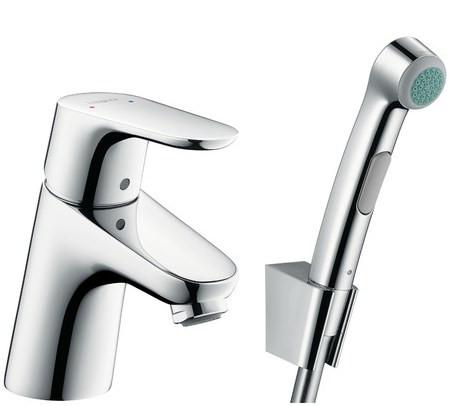 Смеситель для раковины с гигиеническим душем, без донного клапана Hansgrohe Focus E2 31926000