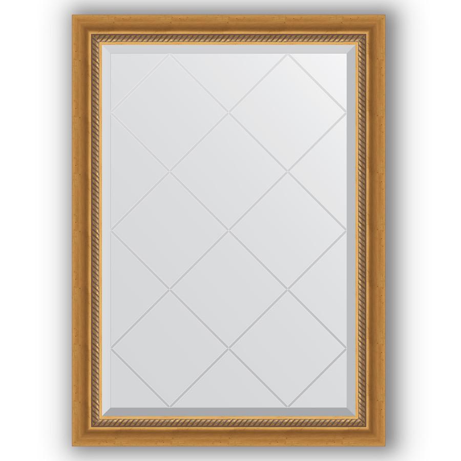 Зеркало 73х101 см состаренное золото с плетением Evoform Exclusive-G BY 4174