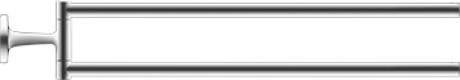 Фото - Полотенцедержатель 46,5 см Duravit Starck T 0099411000 полка для полотенец 61 см duravit starck t 0099444600