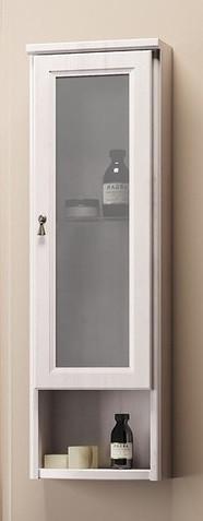 Шкаф одностворчатый подвесной белый матовое стекло Opadiris Клио Z0000004280