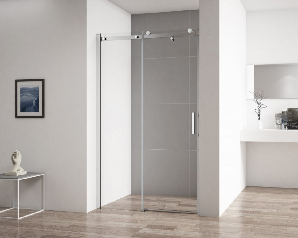 Душевая дверь 150 см Cezares STYLUS-SOFT-BF-1-150-C-Cr прозрачное душевая дверь cezares stylus soft bf 1 120 прозрачная хром stylus soft bf 1 120 c cr