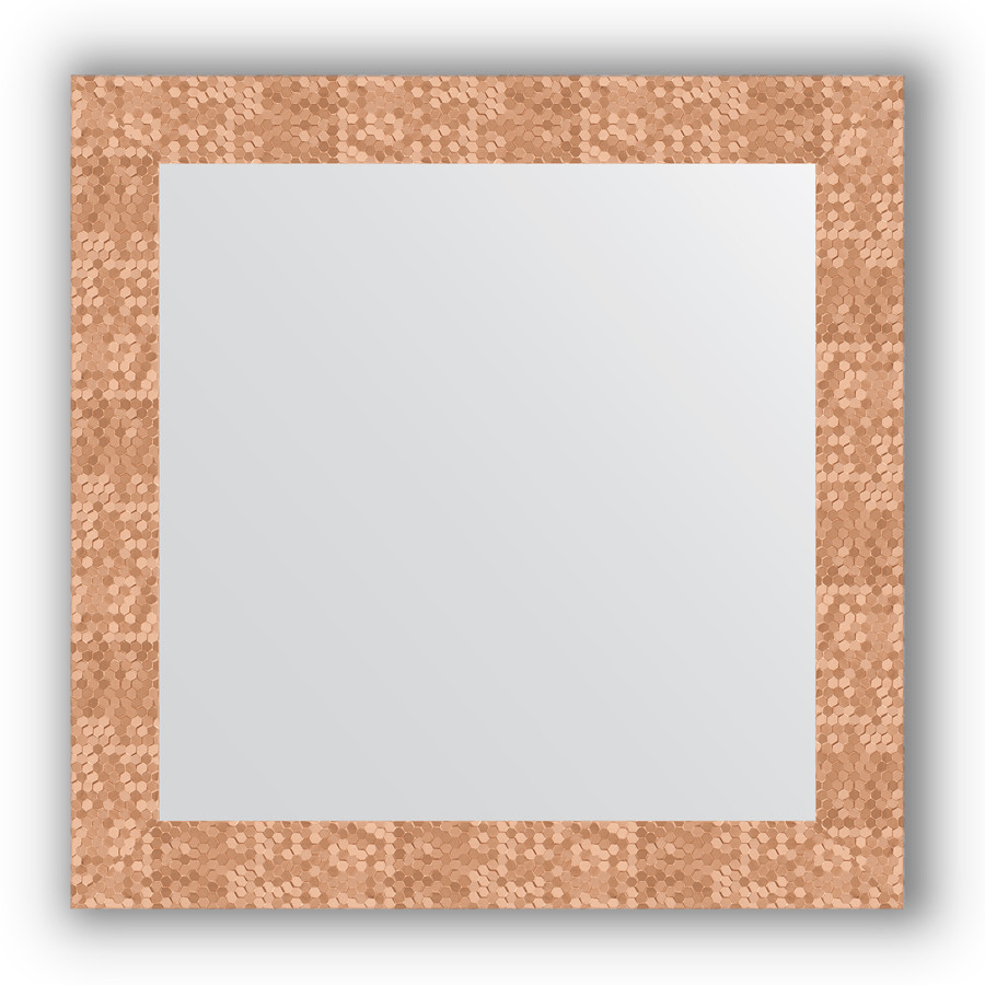 Зеркало 66х66 см соты медь Evoform Definite BY 3146 зеркало 66х66 см орех evoform definite by 0784