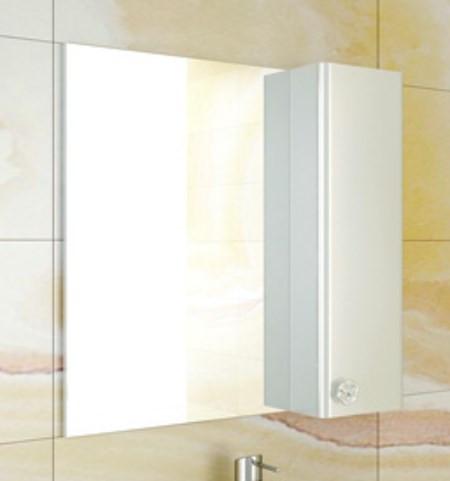 Зеркальный шкаф 70х75 см белый глянец Comforty Флоренция 00003130350 цена