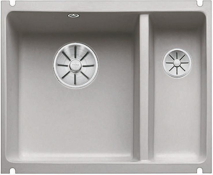 Кухонная мойка Blanco Subline 350/150-U InFino серый алюминий 523745