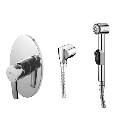 Гигиенический душ со смесителем Lemark Atlantiss LM3219C гигиенический душ со смесителем lemark brava lm4719g золото