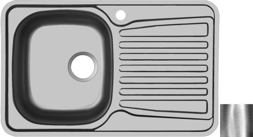 Кухонная мойка полированная сталь Ukinox Комфорт COP780.480 -GT6K 2L ukinox fad 760 470 gt6k l