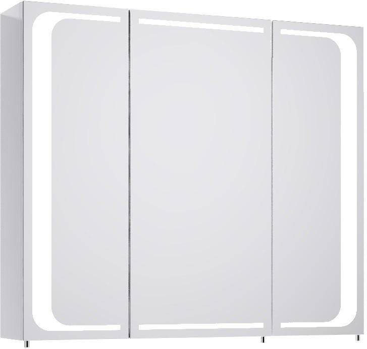 Фото - Зеркальный шкаф белый глянец 80х70 см Aqwella 5 Stars Milan Mil.04.08 тумба под раковину aqwella 5 stars milan 80x40 белая mil 01 08 2n w
