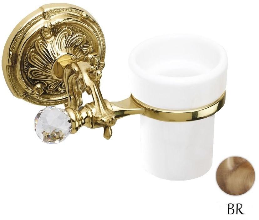 Стакан с держателем бронза Art&Max Barocco Crystal AM-1787-Br-C