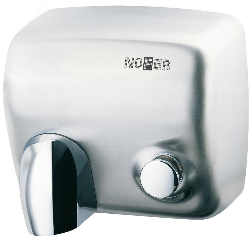 Сушилка для рук матовый хром Nofer Cyclon 01100.S автоматическая сушилка для рук nofer kai 1500 w глянцевая 01251 b