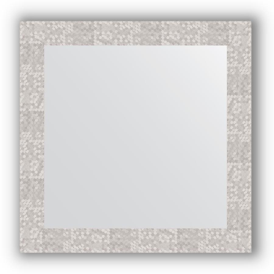 Зеркало 66х66 см соты алюминий Evoform Definite BY 3147 зеркало evoform definite 74х54 алюминий