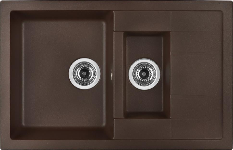 Кухонная мойка марон Longran Ultra ULS780.500 15 - 93 цена