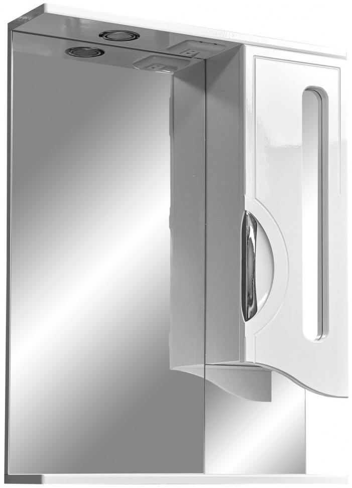 Зеркальный шкаф 60х80 см белый глянец/белый матовый Stella Polar Сильва SP-00000208