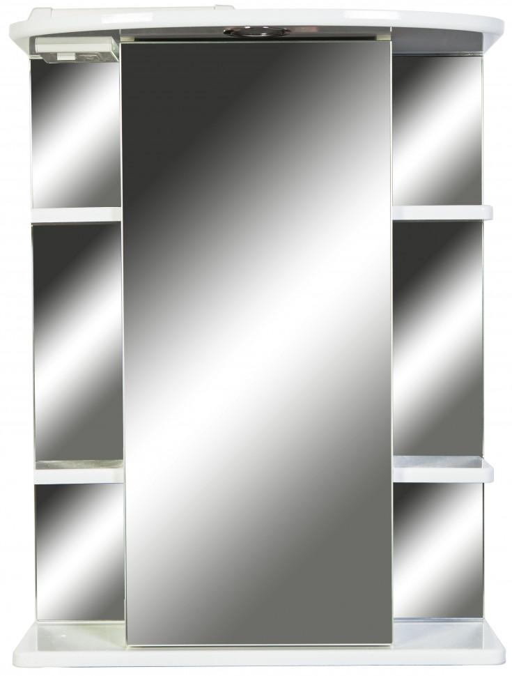 Зеркальный шкаф 55х72 см белый глянец Orange Кларис Kl-55ZSW зеркальный шкаф orange classic 85 белый