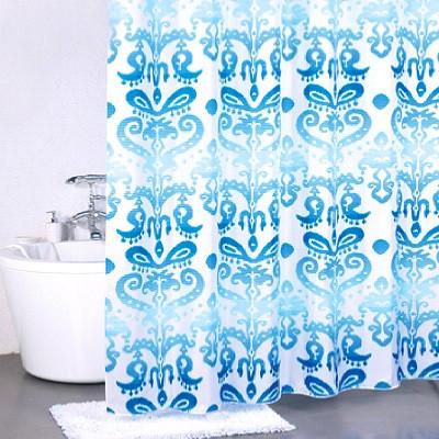 Штора для ванной комнаты Milardo Turkish Blue 920P180M11 шторка для ванной комнаты milardo turkish blue 920p180m11