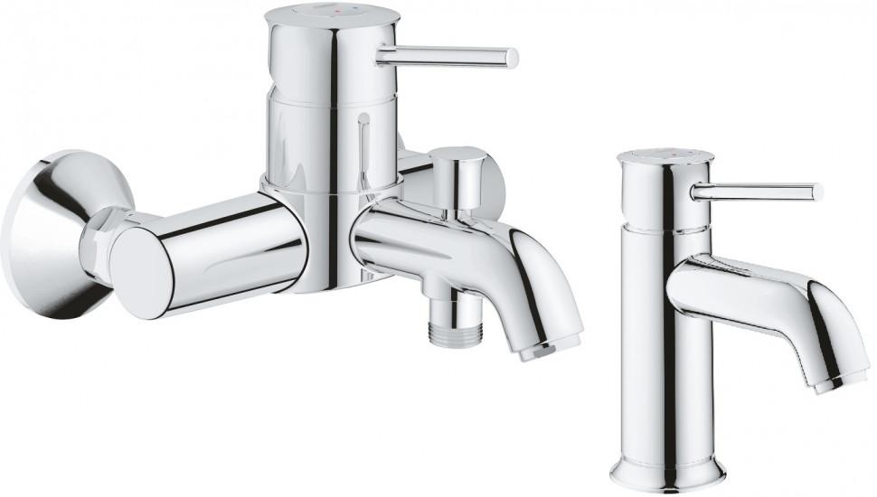 Комплект смесителей Grohe BauClassic 32865000 + 23162000 комплект смесителей grohe bauclassic 32865000 23162000