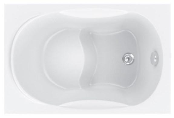Акриловая ванна 105х70 см Bas Рио B00046 акриловая ванна 143х143 см bas хатива b00042